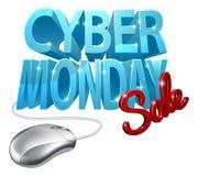 Cyber-Montag-Verkaufs-Computer-Mäusezeichen Lizenzfreies Stockfoto