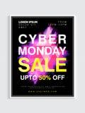 Cyber-Montag-Verkaufs-Plakat oder Fahne Lizenzfreie Stockfotos