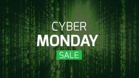 Cyber-Montag-Verkaufszeichen gegen digitalen Hintergrund stock video footage