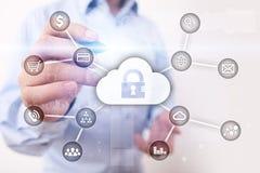 Cyber ochrona, dane ochrona, ewidencyjny bezpieczeństwo i utajnianie, internet technologia i biznesu pojęcie fotografia royalty free
