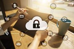Cyber ochrona, dane ochrona, ewidencyjny bezpieczeństwo i utajnianie, Zdjęcie Royalty Free