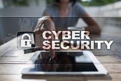 Cyber ochrona, dane ochrona, ewidencyjny bezpieczeństwo i utajnianie, Obraz Stock