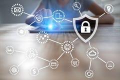 Cyber ochrona, dane ochrona, ewidencyjny bezpieczeństwo i utajnianie, Zdjęcia Royalty Free