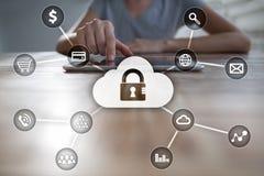 Cyber ochrona, dane ochrona, ewidencyjny bezpieczeństwo i utajnianie, Fotografia Royalty Free