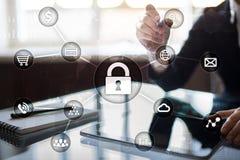 Cyber ochrona, dane ochrona, ewidencyjny bezpieczeństwo i utajnianie, Obraz Royalty Free