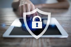 Cyber ochrona, dane ochrona, ewidencyjny bezpieczeństwo i utajnianie, Obrazy Stock