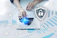 Cyber ochrona, dane ochrona, ewidencyjny bezpieczeństwo i utajnianie, Obrazy Royalty Free
