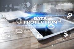 Cyber ochrona, dane ochrona, ewidencyjny bezpieczeństwo Internetowy technologii pojęcie Obraz Royalty Free