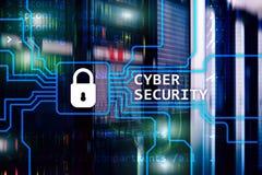 Cyber ochrona, ewidencyjna prywatność i dane ochrony pojęcie na serweru pokoju tle, Zdjęcie Royalty Free