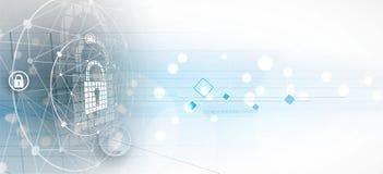 Cyber ochrona i ochrona informaci lub sieci Przyszłość tec royalty ilustracja