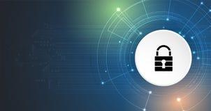 Cyber ochrona i ochrona informaci lub sieci Przyszłość tec Zdjęcia Stock