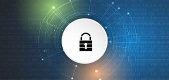 Cyber ochrona i ochrona informaci lub sieci Przyszłość tec Obrazy Stock