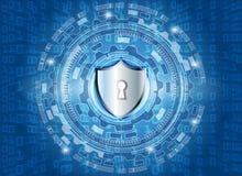 Cyber ochrony dane ochrony technologii prywatności Biznesowy conce Obraz Royalty Free