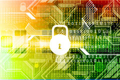 Cyber ochrony pojęcie Zdjęcie Stock
