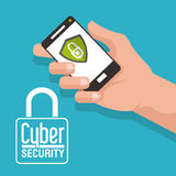 Cyber ochrony projekt Zdjęcia Royalty Free