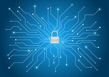Cyber ochrony tło Obraz Stock