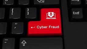 Cyber oszustwa obracania ruch Na Komputerowej klawiatury guziku ilustracji