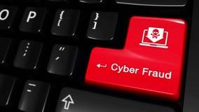 49 Cyber oszustwa Poruszający ruch Na Komputerowej klawiatury guziku royalty ilustracja