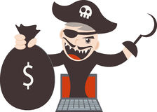 Cyber Pirates Stock Photos