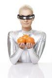 cyber pomarańcz kobieta Zdjęcia Stock