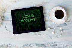 Cyber Poniedziałek na pastylce zdjęcie stock