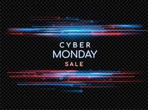 Cyber Poniedziałek Promocyjny online sprzedaży wydarzenie Wektorowa technologii ilustracja Zdjęcie Stock