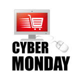 Cyber Poniedziałków handlu elektronicznego sprzedaże i promocje royalty ilustracja