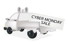 Cyber Poniedziałku karta na furgonetce Zdjęcia Stock