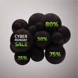 Cyber Poniedziałku sprzedaż Zdjęcie Stock