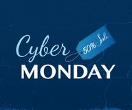 Cyber Poniedziałku sprzedaży typografia Obrazy Stock