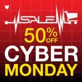 Cyber Poniedziałku tło Fotografia Stock