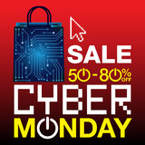 Cyber Poniedziałku tło Obrazy Stock