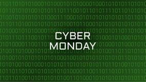 Cyber Poniedziałku technologii Abstrakcjonistyczny tło Binarny Komputerowy dorsz Zdjęcia Royalty Free