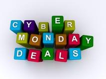 Cyber Poniedziałku transakcje fotografia stock