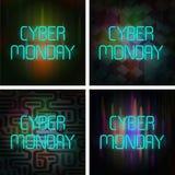 Cyber Poniedziałku plakata set Zdjęcia Stock