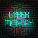 Cyber Poniedziałku sztandar Obraz Royalty Free