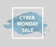 Cyber Poniedziałku sprzedaże, Cyber Poniedziałku oferty Super rabaty Cyber Poniedziałku plakat, sztandar również zwrócić corel il Obraz Stock
