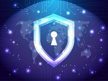 Cyber pracownika ochrony sieć Bezpieczeństwa i interneta pojęcie Osłony ochrony strażowy temat Obraz Stock