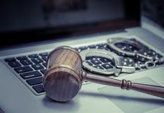 Cyber prawa pojęcia legalny wizerunek obrazy stock