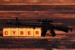 Cyber przestępstwo obraz stock