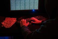 Cyber przestępstwo w internecie zdjęcia stock