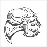 Cyber punk robot skull Stock Photography