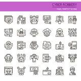 Cyber Robbery Elements Royalty Free Stock Photos