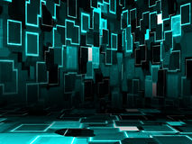Cyber room. Illustration of cyber room, technology glowing background Royalty Free Stock Image