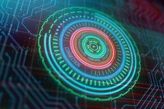 Cyber ruimteknoop Stock Afbeeldingen