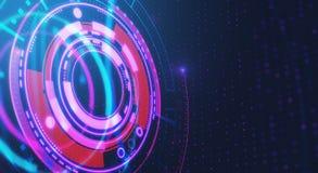 Cyber ruimteknoop Stock Fotografie