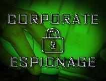 Cyber secret d'espionnage d'entreprise entaillant la 2d illustration illustration stock