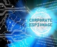 Cyber secret d'espionnage d'entreprise entaillant la 2d illustration illustration libre de droits