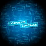 Cyber secret d'espionnage d'entreprise entaillant la 2d illustration illustration de vecteur