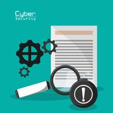 Cyber secuirty document file information protection network. Cyber security document file information protection network vector illustration eps 10 Stock Photo